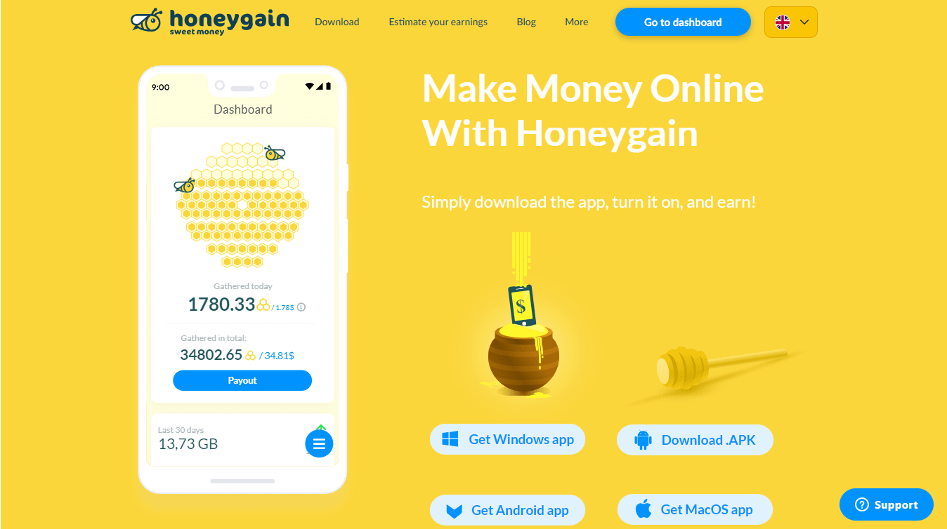 Honeygain – Make Money With Your Unused Internet