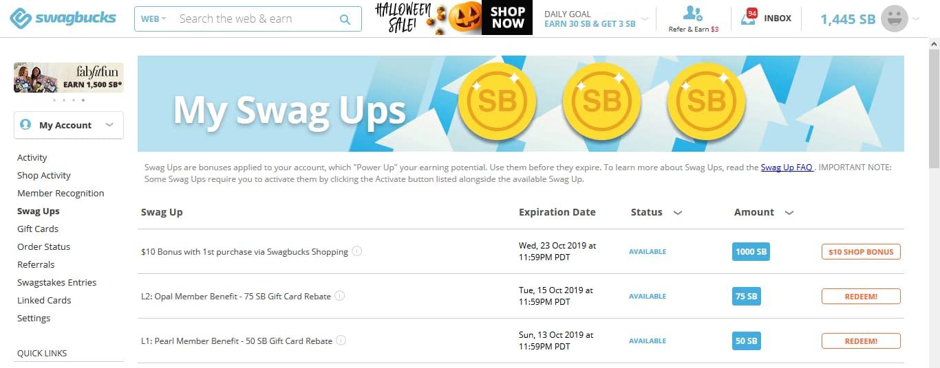 Swagbucks Swag Ups