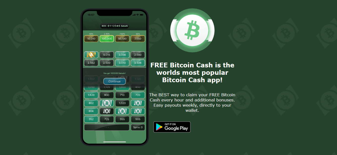 Free Bitcoin Cash – Exactly What It Says On The Tin